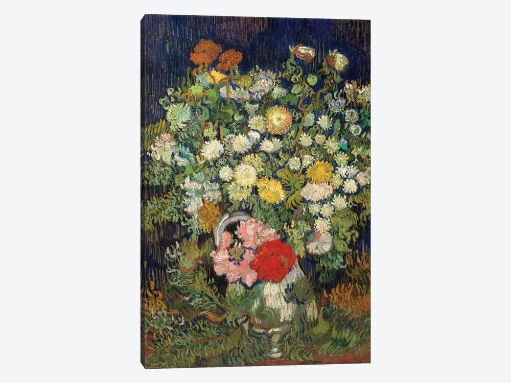 Bouquet Of Flowers In A Vase by Vincent van Gogh 1-piece Canvas Artwork