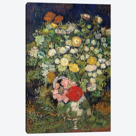 Bouquet Of Flowers In A Vase Canvas Print #WAG89} by Vincent van Gogh Art Print