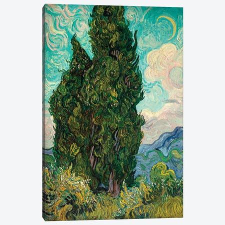 Cypresses I Canvas Print #WAG90} by Vincent van Gogh Canvas Art