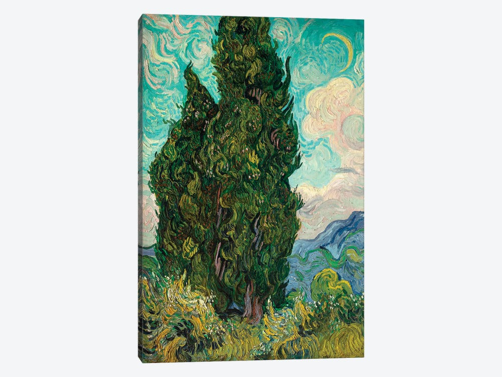 Cypresses I by Vincent van Gogh 1-piece Canvas Artwork