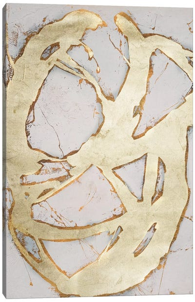 Ace of Spades in Gold II Canvas Art Print