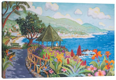 Laguna Gazebo Couple Canvas Art Print