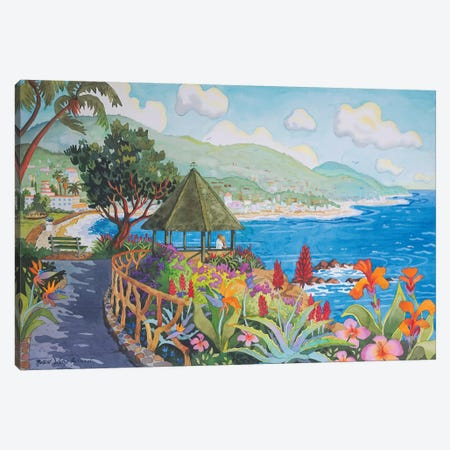 Laguna Gazebo Couple Canvas Print #WAL15} by Robin Wethe Altman Canvas Artwork