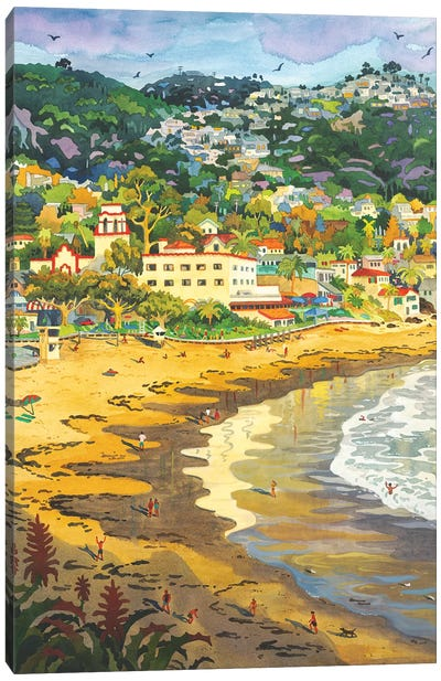 Last Light On Laguna Gary's Canvas Art Print