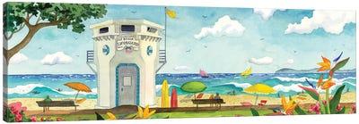 Lifeguard Stand At Main Beach Canvas Art Print