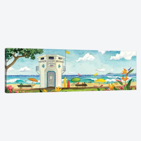 Lifeguard Stand At Main Beach Canvas Print #WAL19} by Robin Wethe Altman Art Print