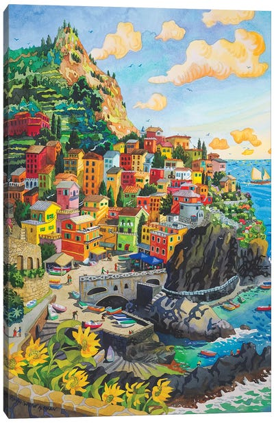 Manerola, Cinque Terre Canvas Art Print
