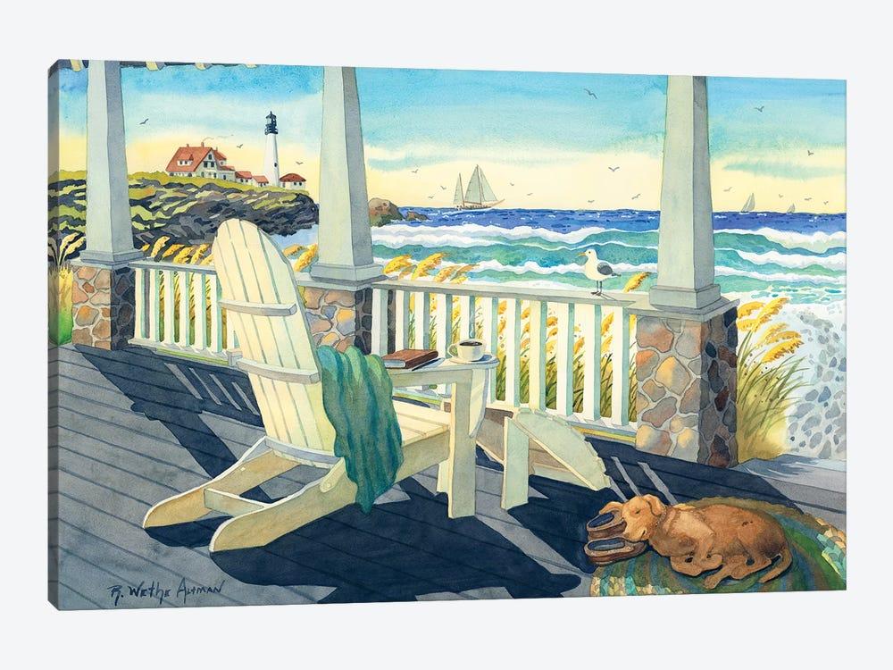 Morning Coffee At The Beach House Canvas Robin Wethe Altman Icanvas