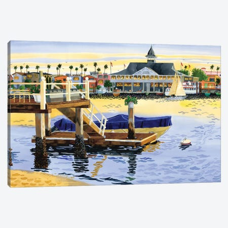 Newport Harbor Sunset Canvas Print #WAL24} by Robin Wethe Altman Canvas Art Print