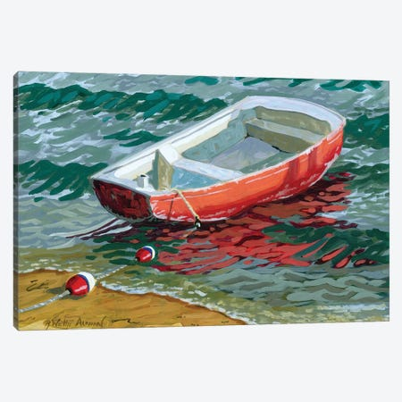 Red Skiff Canvas Print #WAL27} by Robin Wethe Altman Canvas Art Print