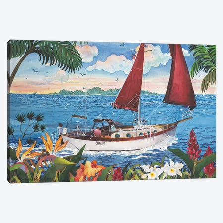 Sail Away Canvas Print #WAL28} by Robin Wethe Altman Canvas Art