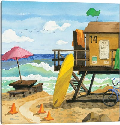 San Clemente Lifeguard Stand Canvas Art Print