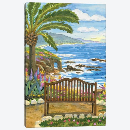 Bench At The Montage Canvas Print #WAL2} by Robin Wethe Altman Canvas Wall Art