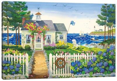 Seaside Cottage Canvas Art Print