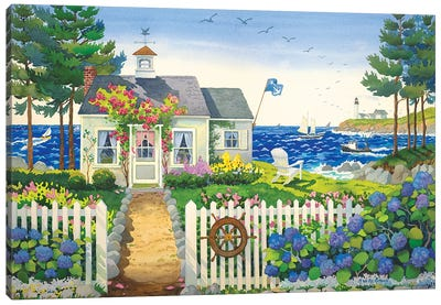 Seaside Cottage Canvas Art Print