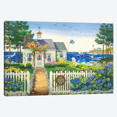 Seaside Cottage Canvas Print #WAL30} by Robin Wethe Altman Art Print