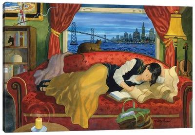 She Lives In San Fransisco Canvas Art Print