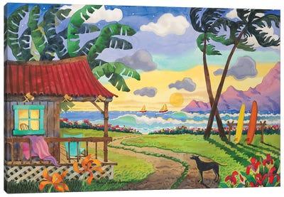 Sunset In Paradise Canvas Art Print