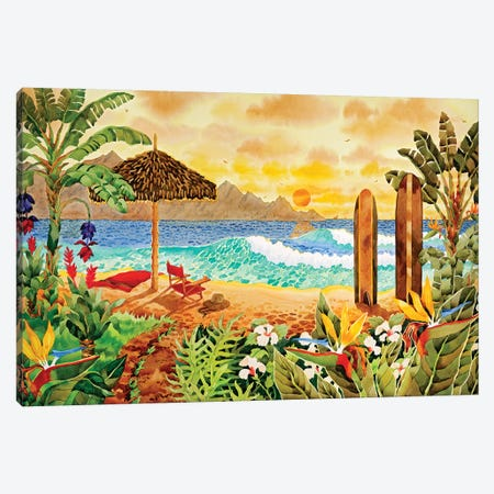 Surfing The Islands Canvas Print #WAL35} by Robin Wethe Altman Canvas Artwork