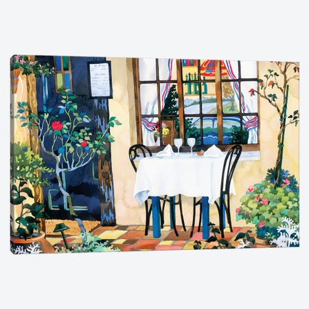 Table For Two Canvas Print #WAL36} by Robin Wethe Altman Canvas Wall Art