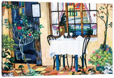 Table For Two Canvas Art Print