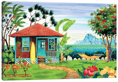 The Beachhouse Canvas Art Print
