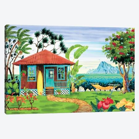 The Beachhouse Canvas Print #WAL37} by Robin Wethe Altman Canvas Artwork