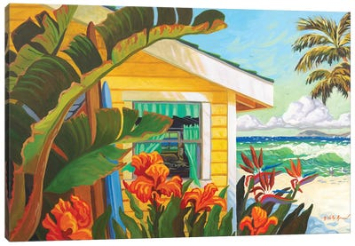 The Cottage At Crystal Cove Canvas Art Print
