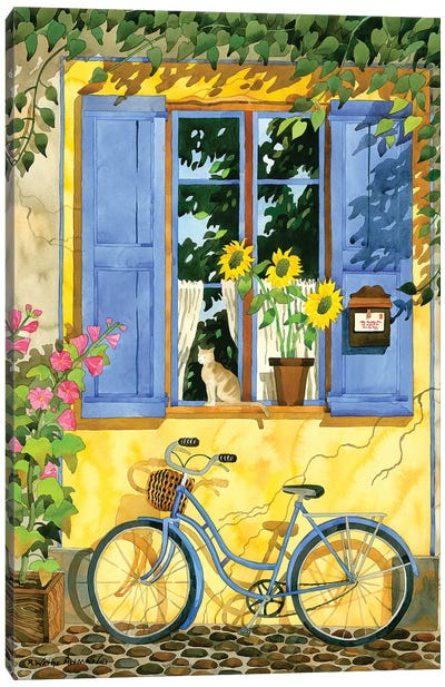 The French Bike Canvas Art Print