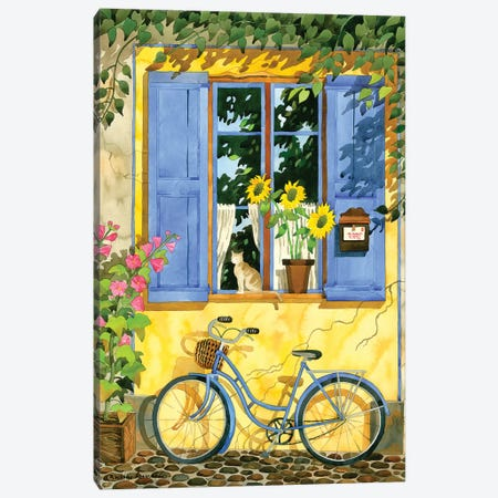 The French Bike Canvas Print #WAL39} by Robin Wethe Altman Canvas Art Print
