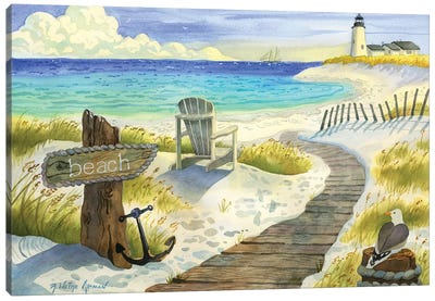 Boardwalk To The Lighthouse Canvas Art Print