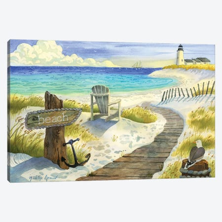 Boardwalk To The Lighthouse Canvas Print #WAL3} by Robin Wethe Altman Canvas Artwork