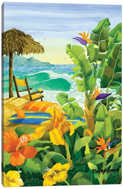 Tropical Holiday Canvas Art Print