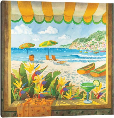 Window To The Sea Canvas Art Print