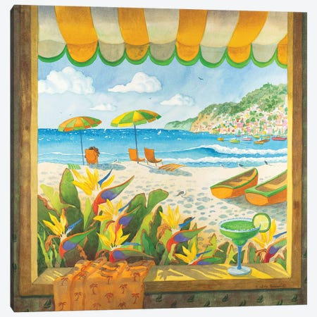 Window To The Sea Canvas Print #WAL45} by Robin Wethe Altman Canvas Print