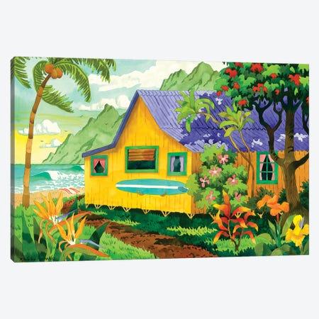 Yellow Cabana 3-Piece Canvas #WAL46} by Robin Wethe Altman Canvas Print