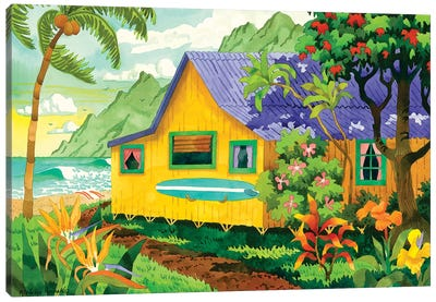 Yellow Cabana Canvas Art Print