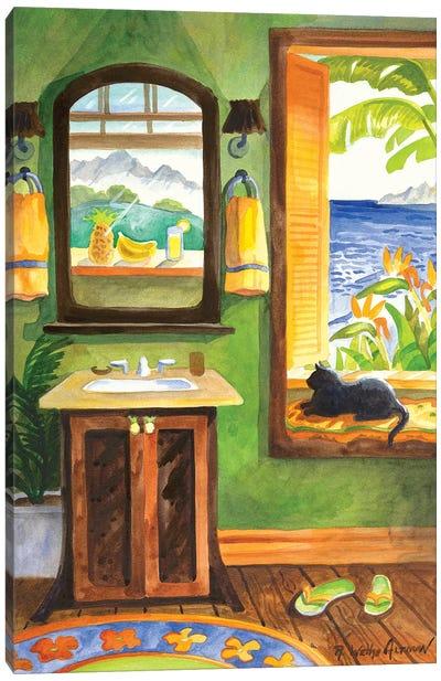 Cat In The Windowseat Canvas Art Print