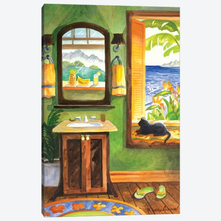 Cat In The Windowseat Canvas Print #WAL4} by Robin Wethe Altman Art Print