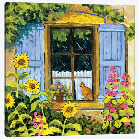 Cat In Window Canvas Print #WAL5} by Robin Wethe Altman Canvas Print
