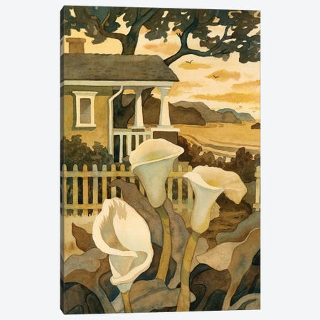 Craftsman Cottage By The Sea Canvas Print #WAL6} by Robin Wethe Altman Canvas Art Print