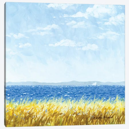 Earth, Sea, And Sky Canvas Print #WAL9} by Robin Wethe Altman Canvas Wall Art