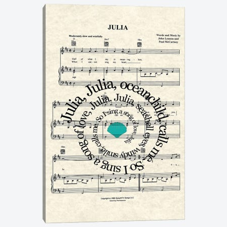 Julia Canvas Print #WAM100} by WordsAndMusicArt Canvas Artwork