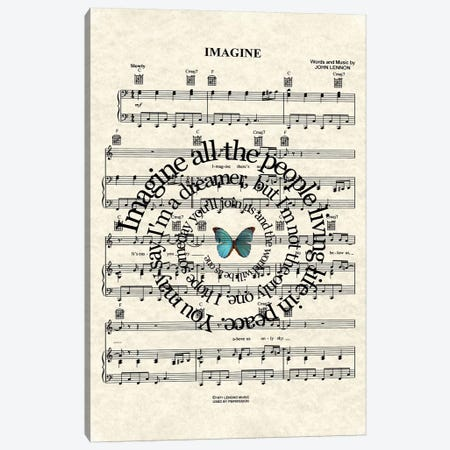Imagine Canvas Print #WAM17} by WordsandMusicArt Canvas Print