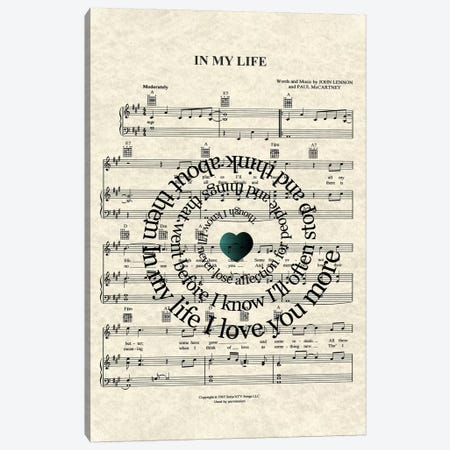 In My Life Canvas Print #WAM18} by WordsAndMusicArt Canvas Artwork