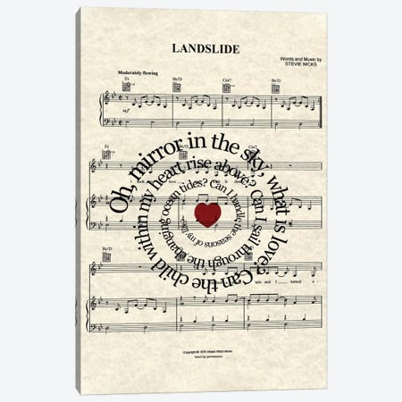Landslide Canvas Print #WAM22} by WordsandMusicArt Art Print