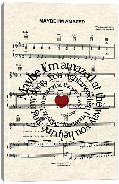 Maybe I'm Amazed Canvas Art Print