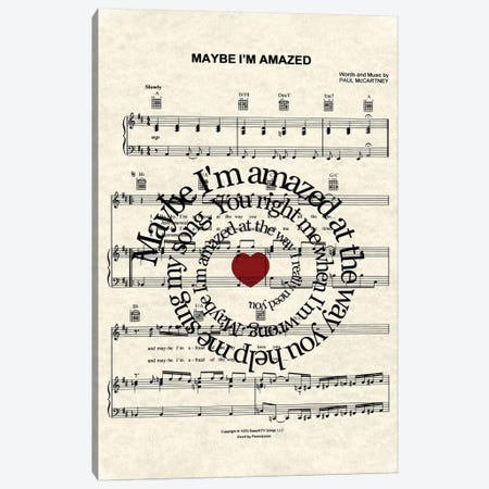 Maybe I'm Amazed Canvas Print #WAM26} by WordsAndMusicArt Canvas Art