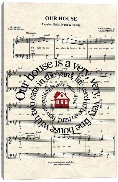 Our House Canvas Art Print