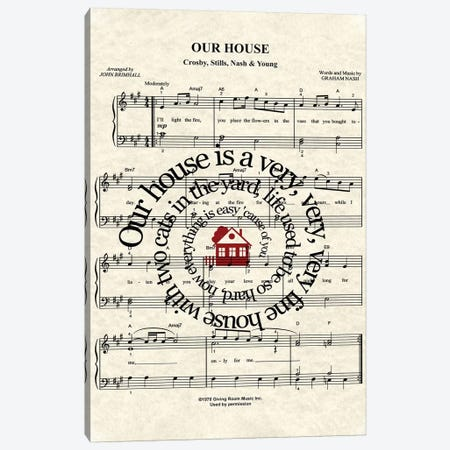 Our House Canvas Print #WAM28} by WordsAndMusicArt Canvas Art Print